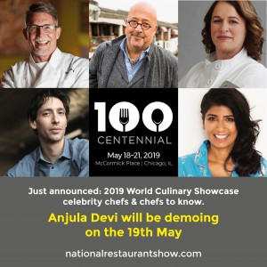 2019-05-National Restuarants Show-Anjula Devi
